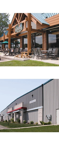 Meridian Warehouse & Chalet Store Exteriors